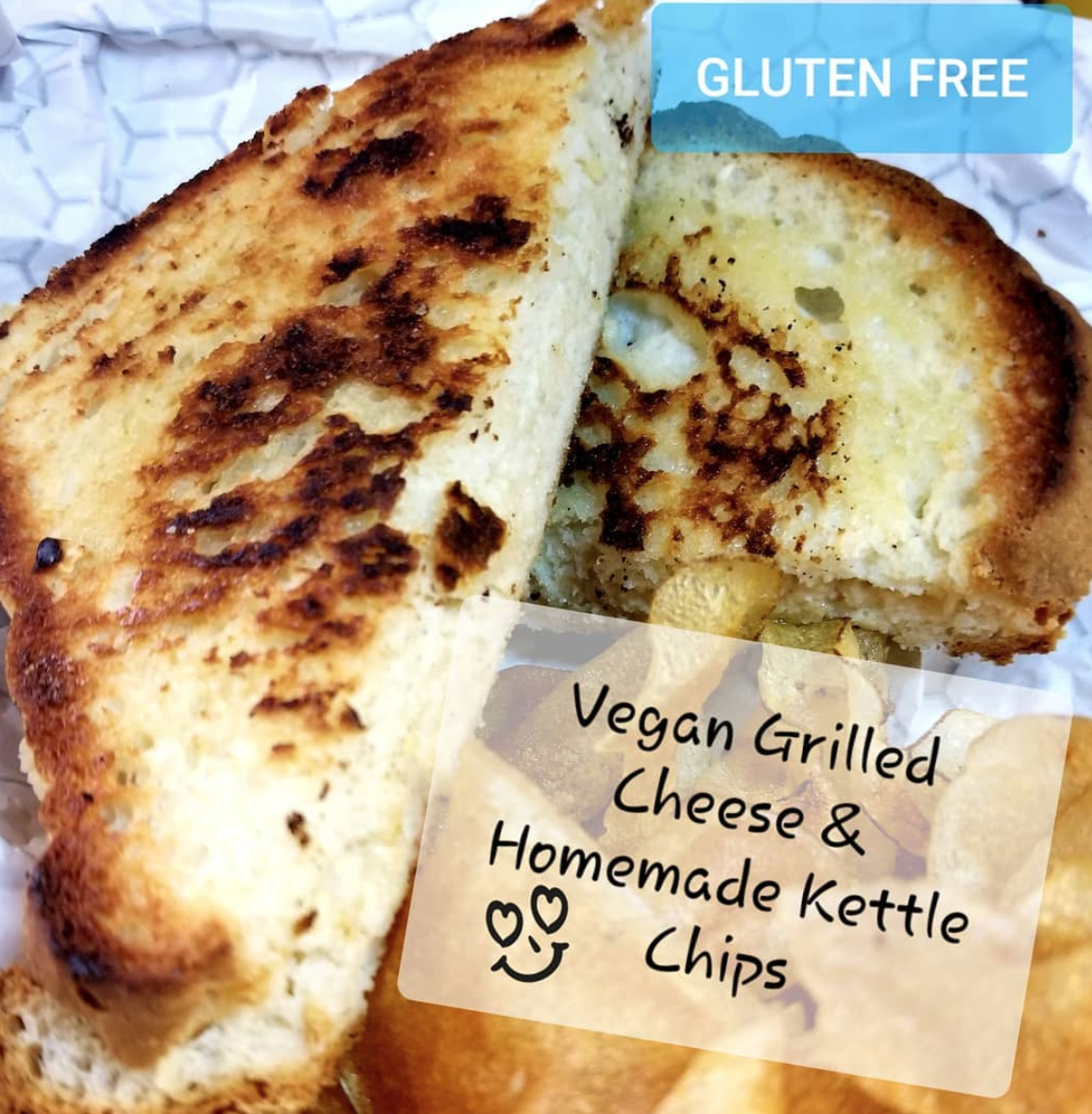 vegan and gluten free grilled cheese